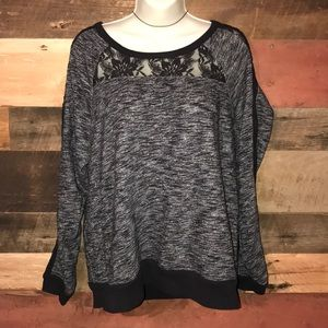 Express sweatshirt with lace